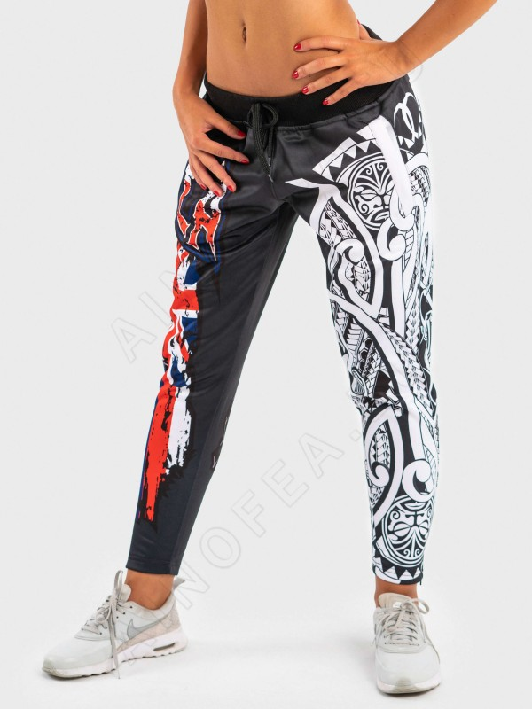 ainofea hawaiian flag women's fleece trousers